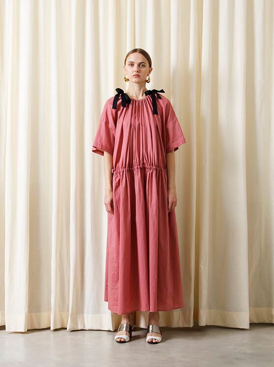 【予約商品】DRAWSTRING LONG DRESS
