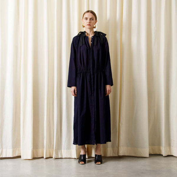 【予約商品】DRAWSTRING OPEN LONG DRESS