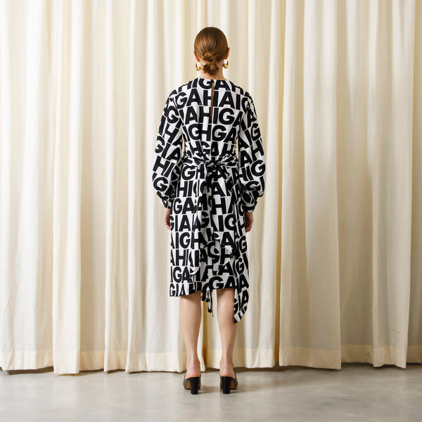 【予約商品】HIGA PRINT ASYMETRY DRESS