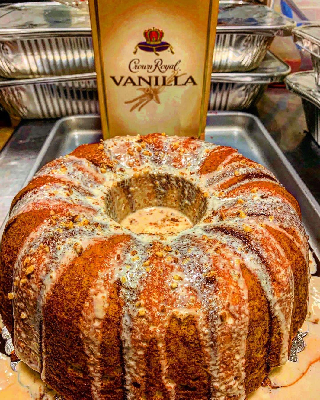 Crown Royal French Vanilla Infused Bundt Cake