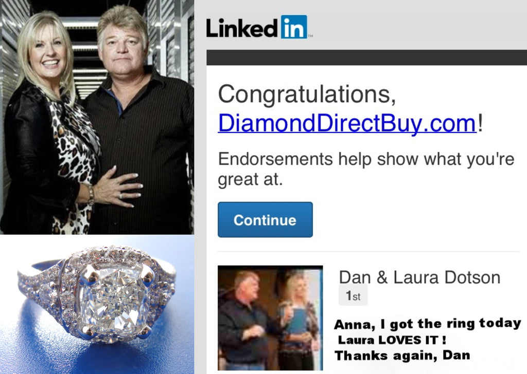 Celebrity Clients: Wedding Ring Sold to Dan & Laura Dotson from the TV show STORAGE WARS on A&E