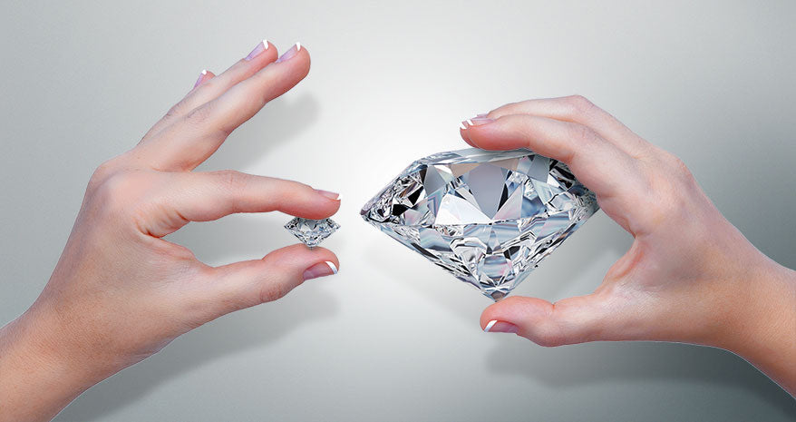 Get a Bigger diamond for less with Lab Grown or Moissanite options