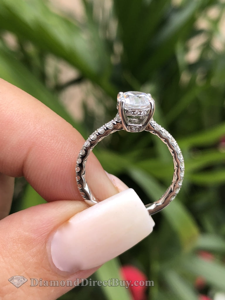 1.48 Ct A.jaffe Designer Gia Certified New Diamond Engagement Ring Rings