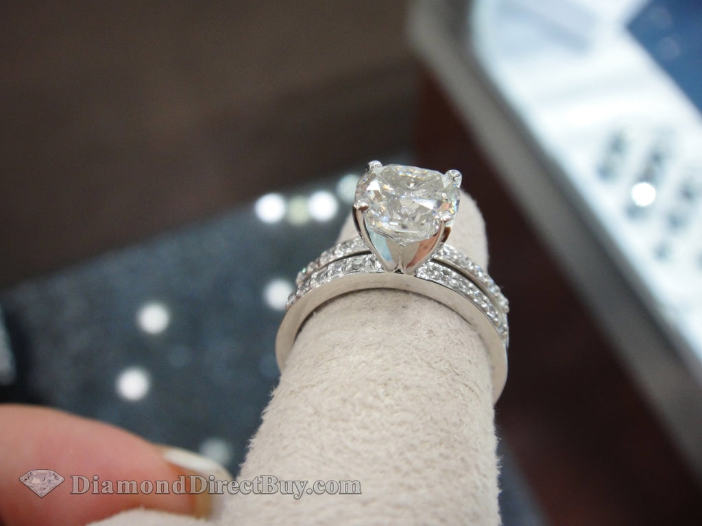 1.50 I Vs2 Cushion Gia Certified Ing Set Engagement Rings