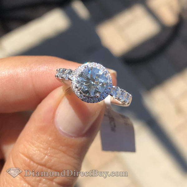 1.57 Simon G Halo Diamond Ring Engagement Rings