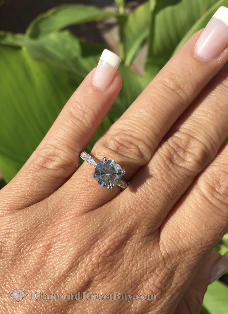 1.71 Engagement Ring With A Gia Certified 1.5Ct I/vs1 Center Rings