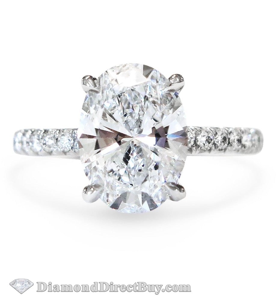 2.01Ct Ladies Oval Diamond Engagement Ring - 1.50 I Vs2 Gia Rings