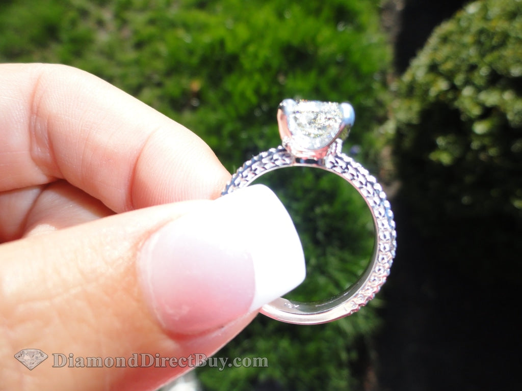 2.5 Ct Square Radiant Diamond Ring With A Center Gia Certified Engagement Rings