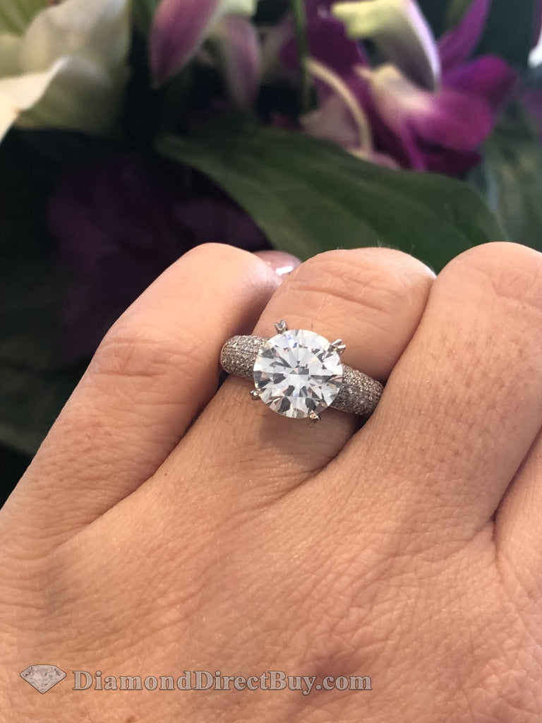 2.5 Diamond Engagement Ring 2.00 Triple Excellent Gia Center Engagement Rings