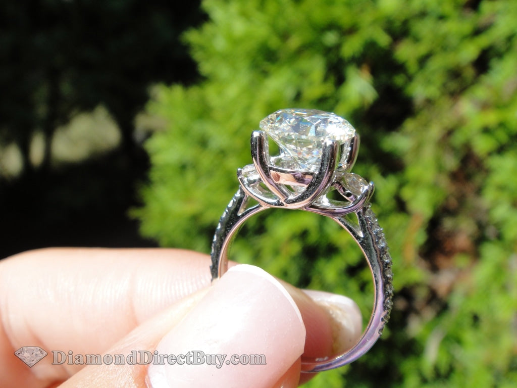 3.00 Carat Diamond Engagement Ring 2.50 I Vs2 Center (Lg) Rings