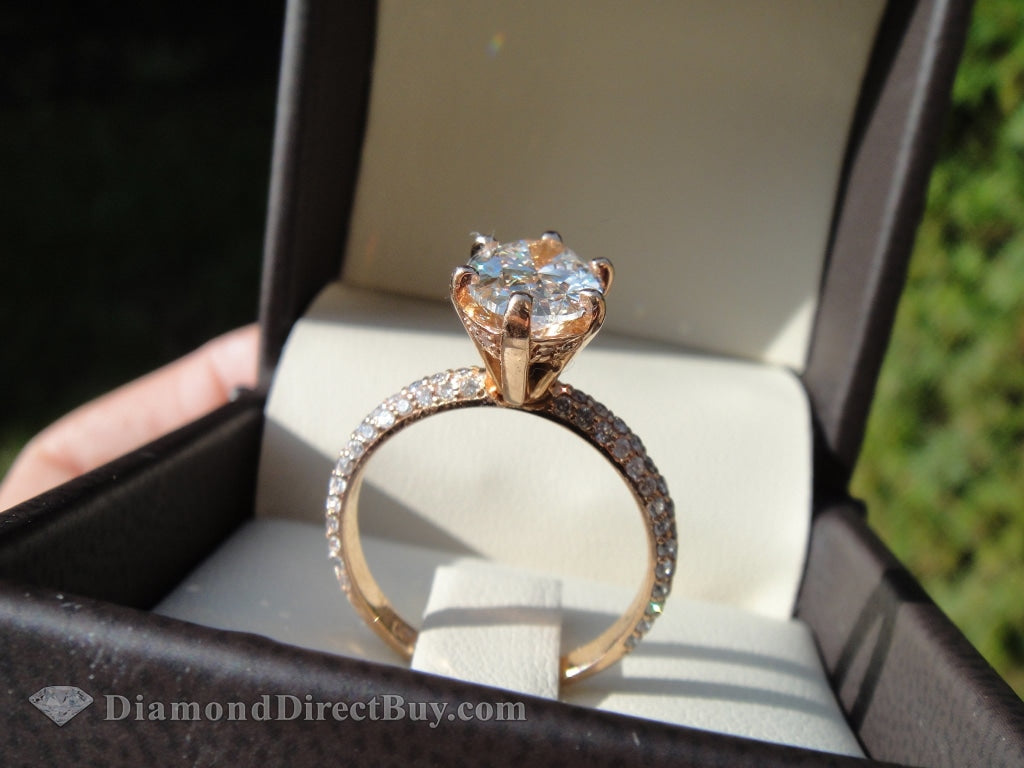3.27 Carat Rose Gold Oval Ring Engagement Rings