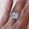 4.71 Cushion Solitaire Diamond Ring Engagement Rings