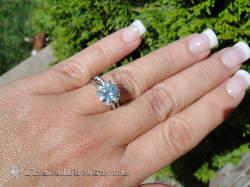 4 Prong Platinum Solitaire 1.5 I Vs1 Engagement Rings