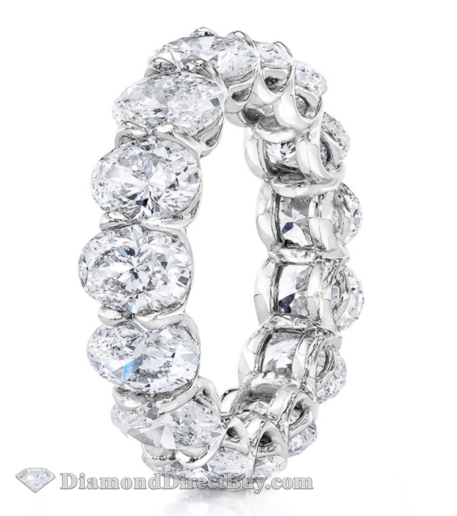 7.8 To 8 Carat Oval Eternity Band Each