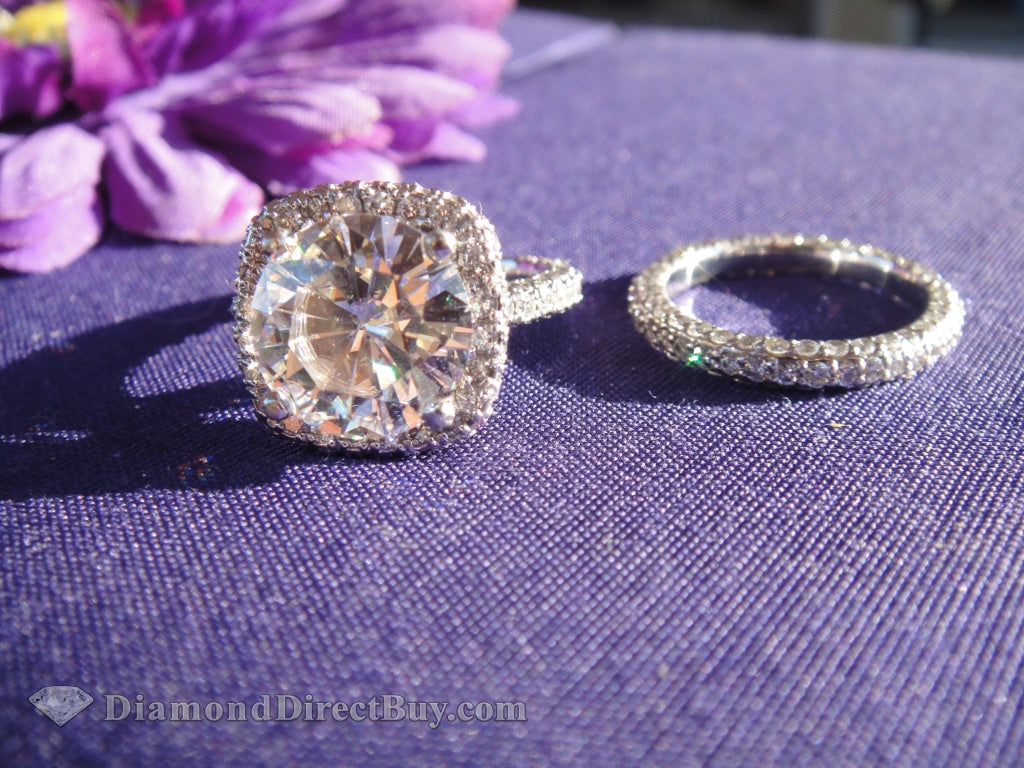 8.5 Carat Lab Grown Set Engagement Rings