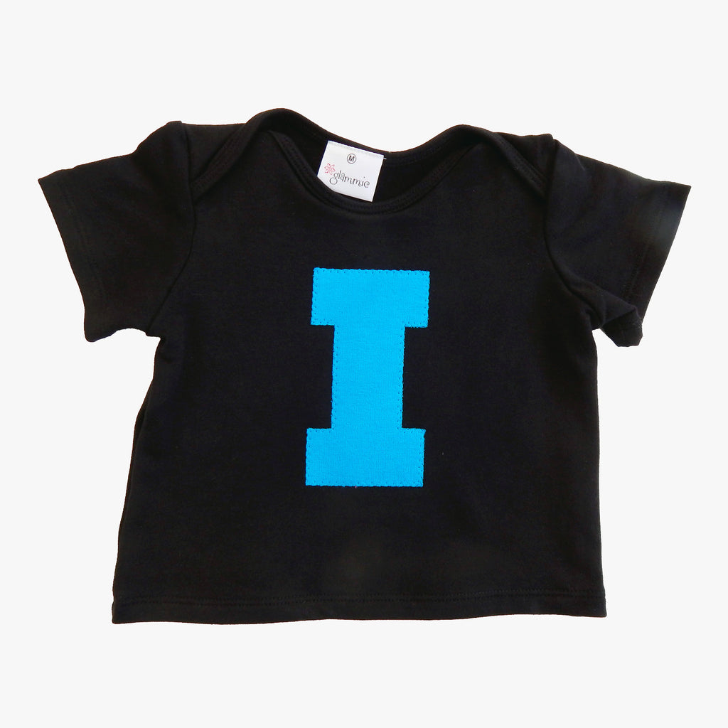 Baby Tee Black with Letter