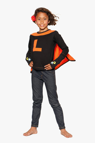 ShirtCape Black Orange