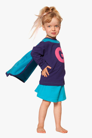 ShirtCape Purple Turquoise