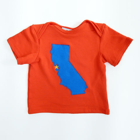 Baby Tee Orange with California