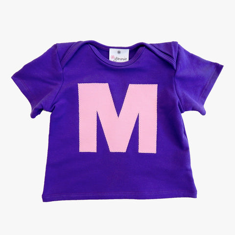 Baby Tee Purple with Letter