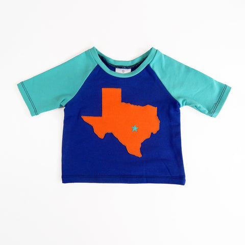 Raglan 1 Year Baby Tee with Texas