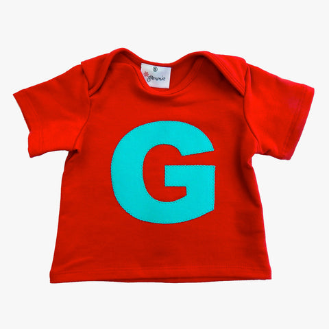 Baby Tee Red with Letter