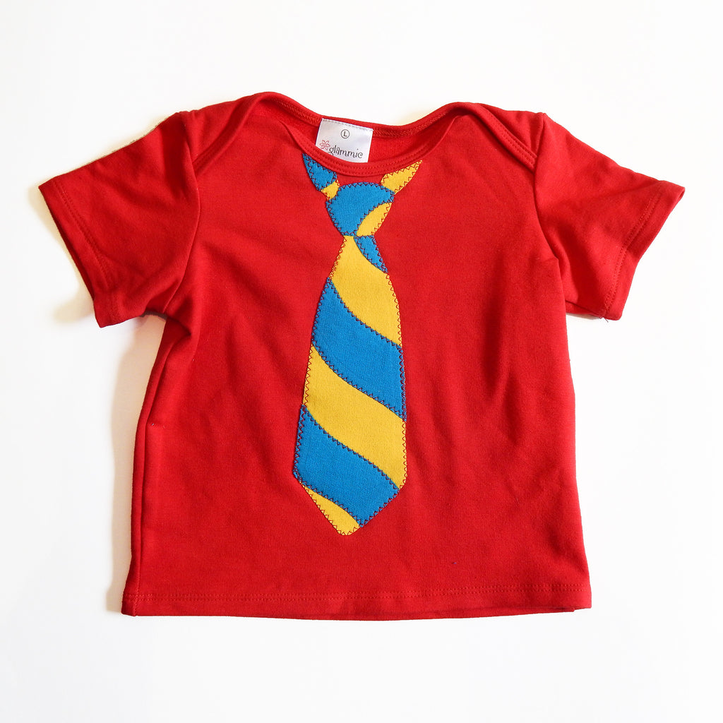 Baby Tee Red with Tie