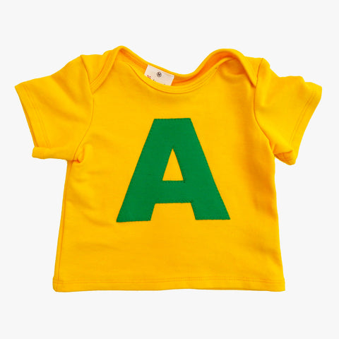 Baby Tee Yellow with Letter