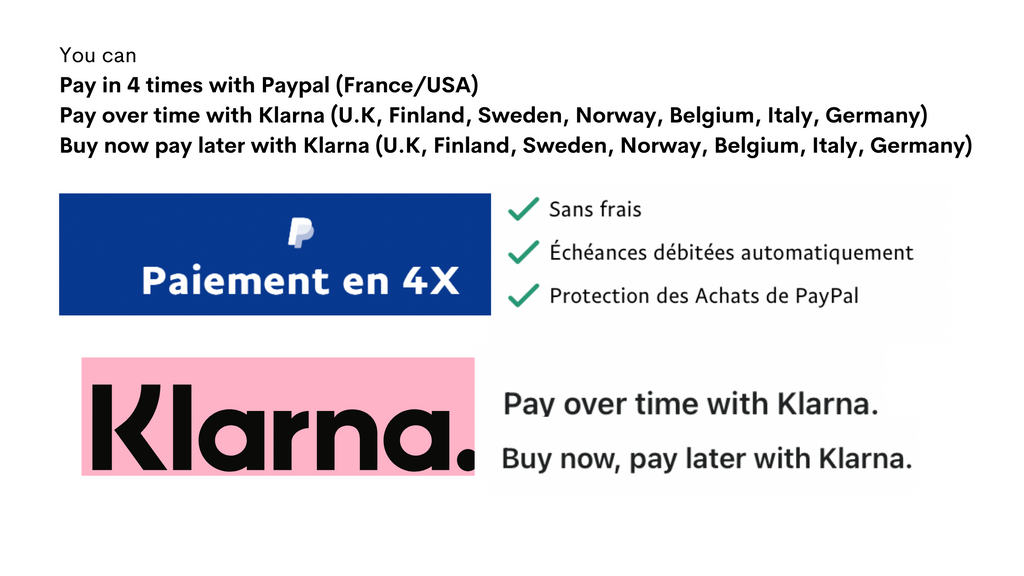 payment options art from future Klarna PayPal