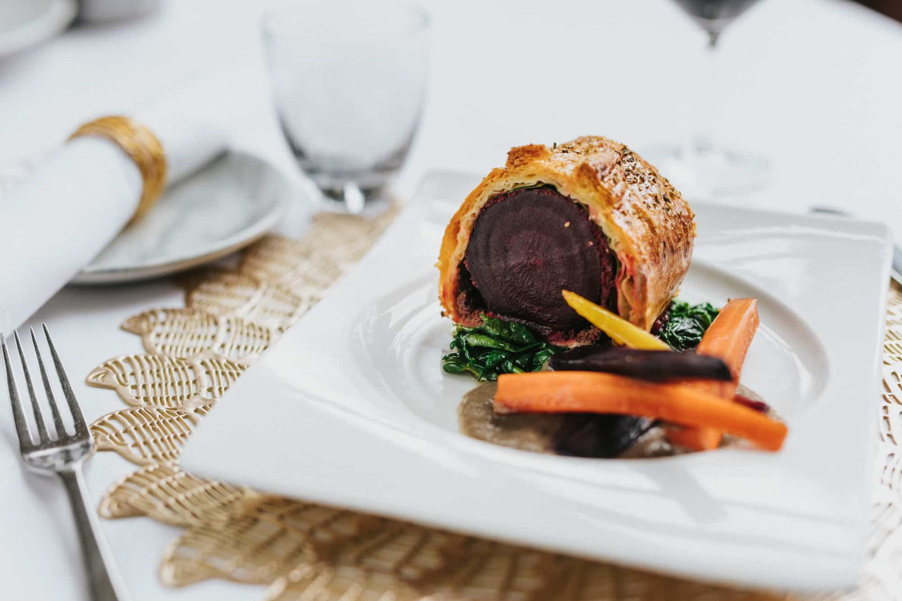 Beetroot and Porcini Wellington