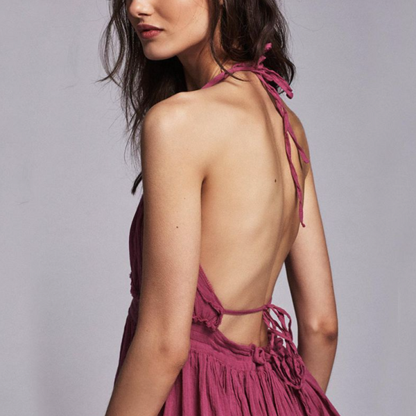 SASSY Backless Tiered Dress