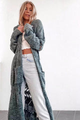 TANDY Crochet Knit Long Cardigan