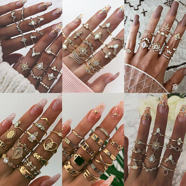 Boho Godess Ring Sets