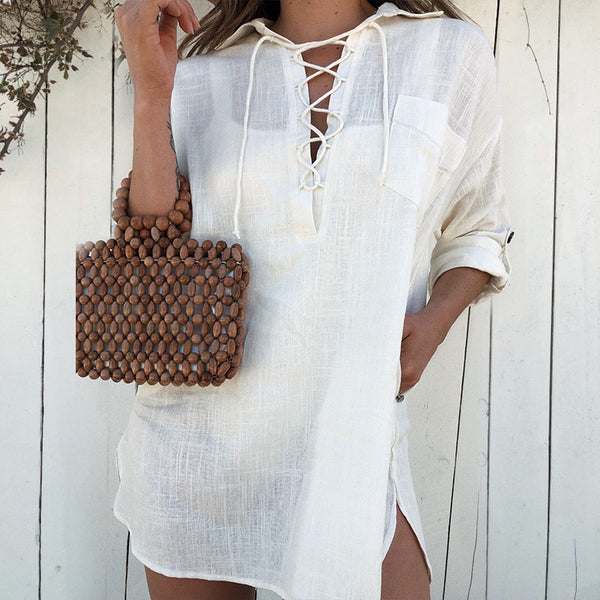 NANDO Tunic Mini Shirt Dress