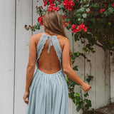 KELLIE Cutout Lace Back Maxi Dress