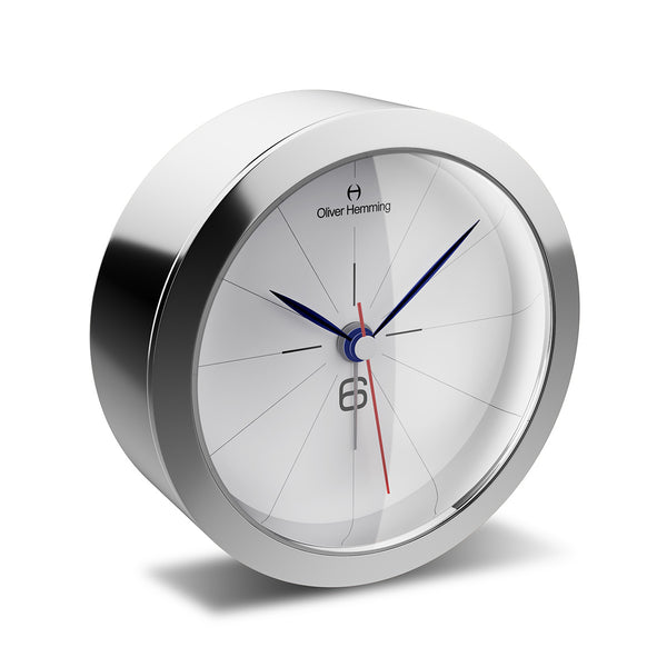 HX81S26W Polished Stainless Steel Obsession Alarm Clock
