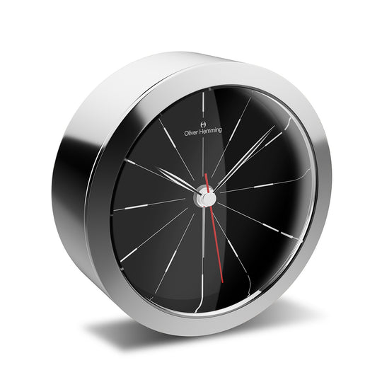 HX81S2B Polished Stainless Steel Obsession Alarm Clock