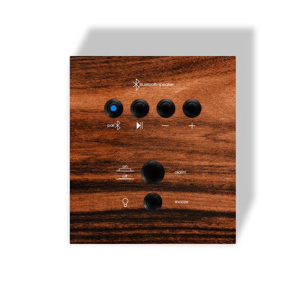 Uptown Ebony Songbird Bluetooth Speaker Alarm Clock - UE4S5W