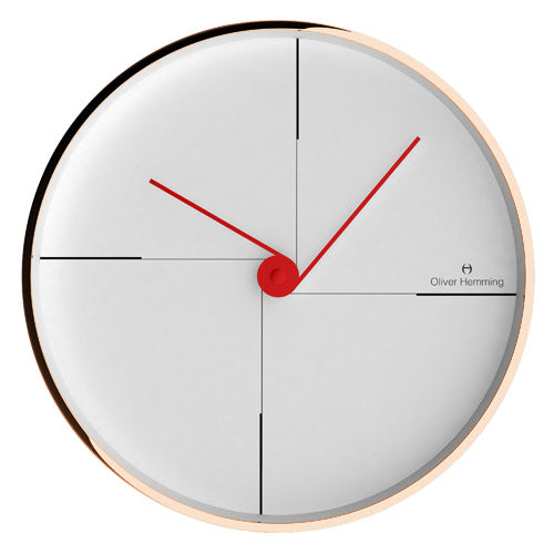 Rose Gold 30cm Simplex Wall Clock - W300R9W