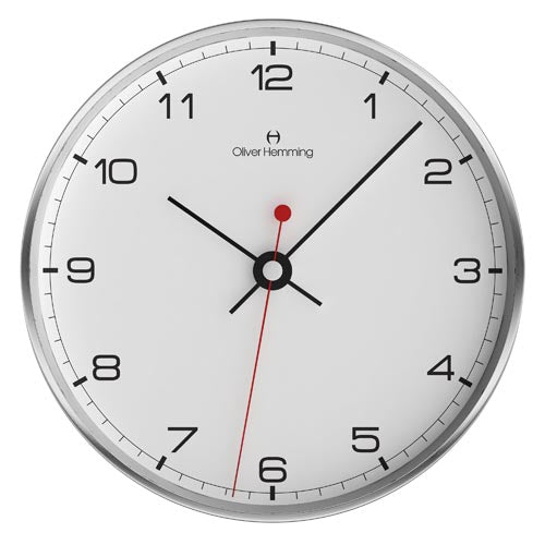BRUSHED STAINLESS STEEL 30cm Simplex Wall Clock - W300SB5WTB