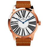 Rose Gold Grand Stainless Date with tan strap - WT17R53WVT