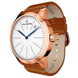 Rose Gold Grand Date with tan strap - WT17R76WVT