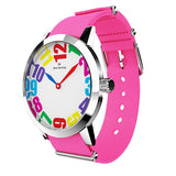 Louis - Stainless Steel with pink nylon strap - WT18S20CPNC