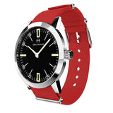 Louis - Stainless Steel with red nylon strap - WT18S45BRNC