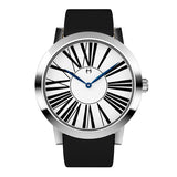 Louis - Stainless Steel with  Black  leather strap - WT18S53WBL