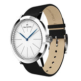Louis - Stainless Steel with  Black  leather strap - WT18S76WBL