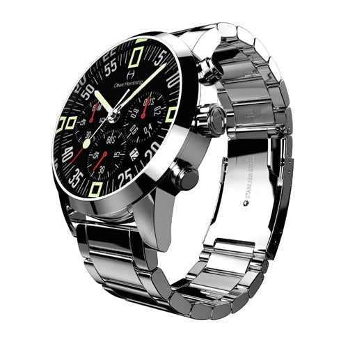 Polished Chronograph with stainless band - WTC17S80BCD