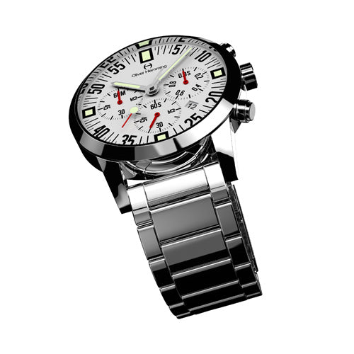 Polished Chronograph with stainless band - WTC17S80WCD