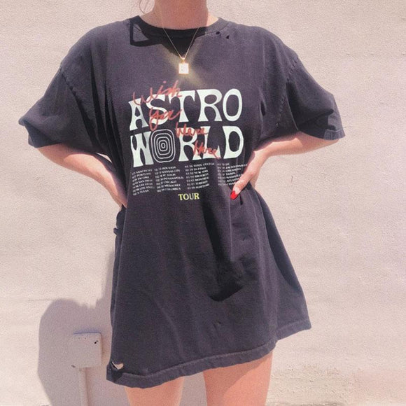 Graphic Astroworld Black T-shirt