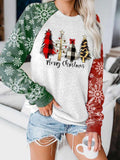 Women's Merry Christmas print sweatshirt